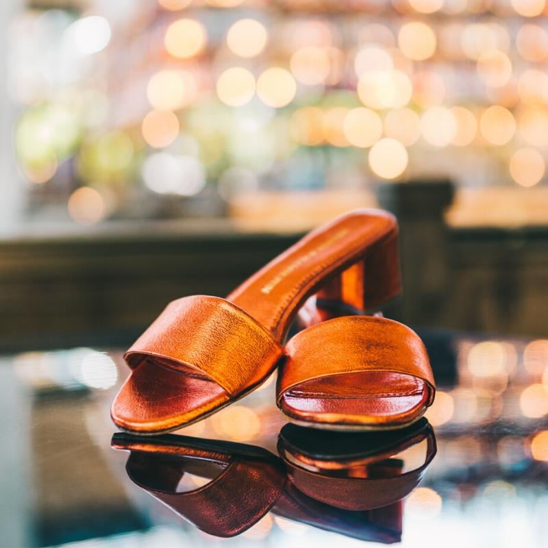 Tendance chaussures métalliques Melvin & Hamilton